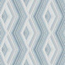 Aura Geometric Wallpaper Metallic Blue