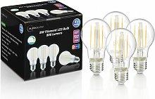 Auraglow 8W Filament LED Bulb E27 Warm White - 4