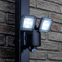 Auraglow Battery Powered Twin Lamp LED Security