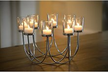 Auraglow - Beautiful Tea Light Glass Candle Holder
