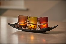 Auraglow Set of 3 Tea Light Votive Glass Candle