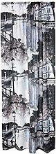 Aurajoki Curtain 140x250 cm bluebeige