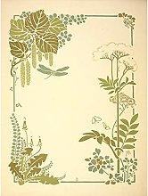 Auriol Decorative Flower Leaf Dragonfly Design