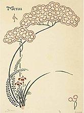 Auriol Iris Flower Japanese Pattern Design Menu