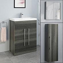Aurora Charcoal Grey Furniture Bundle - Including