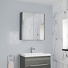 Aurora Double Door Charcoal Grey Mirror Cabinet