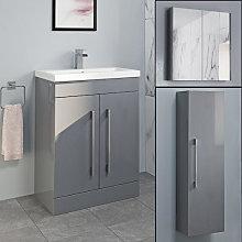 Aurora Grey Gloss Furniture Bundle - Including