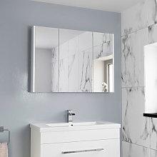 Aurora Triple Door White Gloss Mirror Cabinet 650