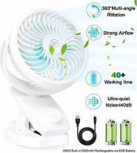AUSEIN Mini Clip-on Fan 5000mAh Rechargeable