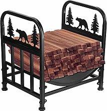 Ausla Heavy Duty Firewood Rack Fireplace Log Rack