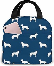 Australian Cattle Dog Navy Lunch Box Bags Food