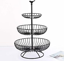 ausuky 3 Tier Standing Metal Wire Fruit Vegetable