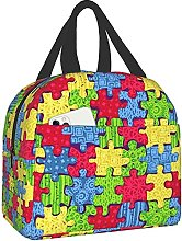 Autism Awareness Portable Lunch Bag Insulated