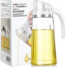 Auto Flip Olive Oil Dispenser Bottle, Glass
