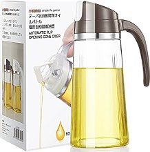 Auto Flip Olive Oil Dispenser Bottle, Glass