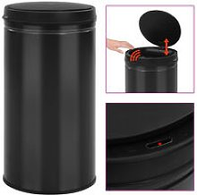 Automatic Sensor Dustbin 60 L Carbon Steel Black