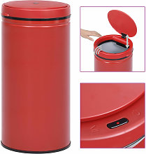 Automatic Sensor Dustbin 70 L Carbon Steel Red