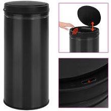 Automatic Sensor Dustbin 80 L Carbon Steel Black