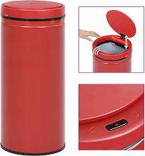 Automatic Sensor Dustbin 80 L Carbon Steel Red