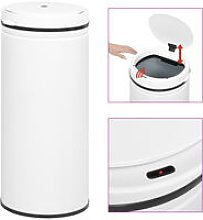 Automatic Sensor Dustbin 80 L Carbon Steel White