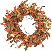 Autumn Door Wreath Front Door Wreath Harvest Small