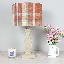 Autumn Elgin Skye Check Drum Lampshade (35 cm