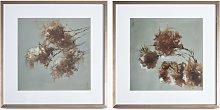 Autumn Floral - Framed Print & Mount, Set of 2, 59