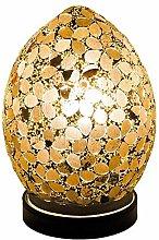 Autumn Gold Flower Mosaic Glass Vintage Egg Table