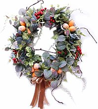 Autumn Harvest Garland Wreath, Artificial Fruit