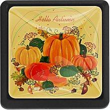 Autumn Harvest Pumpkin Poster Square Cabinet Knobs