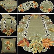 Autumn leaf doily table runner tablecloth cushion