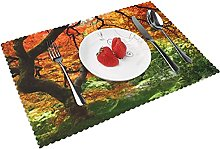 Autumn Leaves Forest Trees Table mat 4 piece