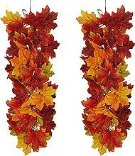Autumn Maple Leaf Wedding Feast Door Fireplace