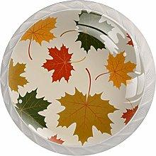 Autumn Maple Leaves Kitchen Cabinet Knobs Knobs