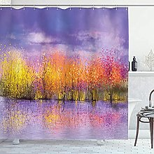 Autumn Shower Curtain Artwork Printed Seasonal