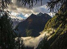 Autumn Valley Forest sunlight-40x40cm,DIY 5D