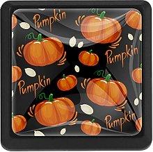 Autumn Vegetable Pumpkin Square Cabinet Knobs