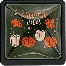 Autumn Vibes with Pumpkins Square Cabinet Knobs