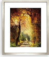 Autumnal Path Framed Print & Mount, 73 x 58cm,