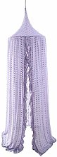AUTUUCKEE Kids Bed Canopy with Pom Pom Hanging