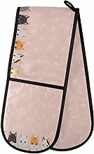 AUUXVA BIGJOKE Double Oven Mitt Quilted Cotton,