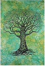 AVA Collections HANDMADE Tie-Dye Tree Mandala Wall