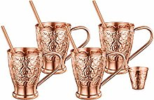AVADOR Set of 4 Handcrafted Engraved 100% Pure