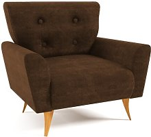 Avalon Armchair Home & Haus Upholstery: Brown