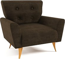 Avalon Armchair Home & Haus Upholstery: Dark Brown