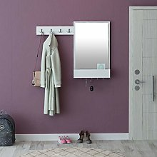 Avalon cabinet with 9 hooks, 1 mirror and 1 shelf.