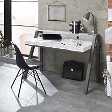 Avanti Glass Computer Desk In White And Anthracite