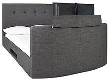 Avelon Fabric Side Lift Ottoman Storage Tv Bed
