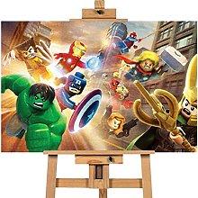 Avengers Assemble Lego Photo 12x16 inches | Canvas