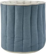 Avery Row - Small Knitted Storage Basket Ocean Blue